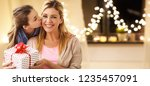 people  holidays and family... | Shutterstock . vector #1235457091