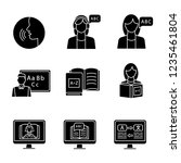 foreign language learning glyph ... | Shutterstock .eps vector #1235461804