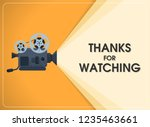 retro move film projector with... | Shutterstock .eps vector #1235463661