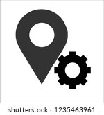 location gear vector icon | Shutterstock .eps vector #1235463961
