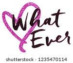 stylish trendy slogan tee t... | Shutterstock .eps vector #1235470114