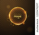 golden frame with lights... | Shutterstock .eps vector #1235470297