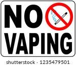 no vaping sign. do not smoke... | Shutterstock . vector #1235479501