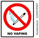 no vaping sign. do not smoke... | Shutterstock . vector #1235479507