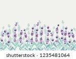 lavender beautifull field... | Shutterstock .eps vector #1235481064