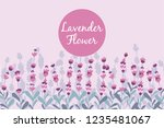 lavender beautifull field... | Shutterstock .eps vector #1235481067
