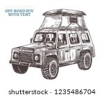 vector off road suv car with... | Shutterstock .eps vector #1235486704
