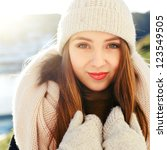 Beautiful Young Woman Winter...