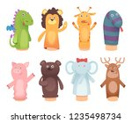 hands puppets. toys from socks... | Shutterstock .eps vector #1235498734