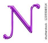 colorful purple plastic letter...   Shutterstock . vector #1235508514