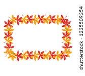 dry leaves design | Shutterstock .eps vector #1235509354