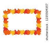 dry leaves design | Shutterstock .eps vector #1235509357