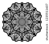 mandala for coloring book.round ... | Shutterstock .eps vector #1235511607