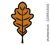 dry leaf icon  | Shutterstock .eps vector #1235513101