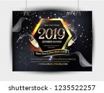 nye  new year eve  2019 party... | Shutterstock .eps vector #1235522257