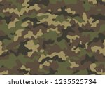 camouflage seamless pattern.... | Shutterstock .eps vector #1235525734
