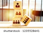 organization and team structure ...   Shutterstock . vector #1235528641