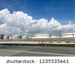 oil refinery image from iphone | Shutterstock . vector #1235535661