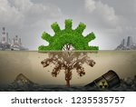 pollution and business or... | Shutterstock . vector #1235535757