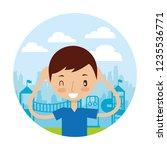 kid good habits    Shutterstock .eps vector #1235536771