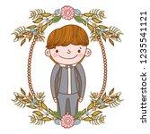 fiance male cute cartoon | Shutterstock .eps vector #1235541121
