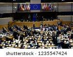 brussels  belgium. 20th nov....   Shutterstock . vector #1235547424