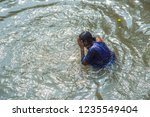 kolkata  india 16 january 2018  ... | Shutterstock . vector #1235549404