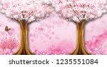 3d wallpaper design with...   Shutterstock . vector #1235551084