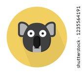 herbivorous koala bear | Shutterstock .eps vector #1235564191