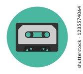 obsolete audio cassette | Shutterstock .eps vector #1235574064