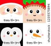 Happy New Year. Santa Claus Elf ...