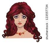 illustration of fantasy girl... | Shutterstock .eps vector #123557734