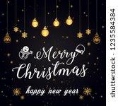 elegant christmas background... | Shutterstock .eps vector #1235584384