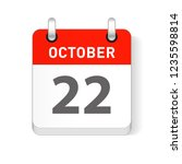 october 22 date visible on a... | Shutterstock .eps vector #1235598814