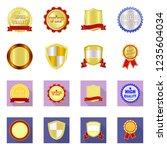 vector design of emblem and... | Shutterstock .eps vector #1235604034
