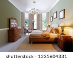 classic bedroom style with set... | Shutterstock . vector #1235604331