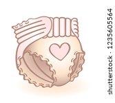 new born baby diaper  nappy... | Shutterstock .eps vector #1235605564