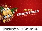 merry christmas layout social... | Shutterstock .eps vector #1235605837