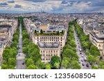 cityscape of paris  france ... | Shutterstock . vector #1235608504