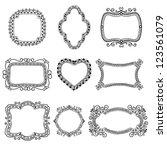 set of hand drawn frames | Shutterstock .eps vector #123561079