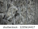 gabion protective wall | Shutterstock . vector #1235614417