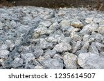 gabion protective wall | Shutterstock . vector #1235614507