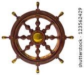 steering wheel of the sea ship...   Shutterstock . vector #123562429