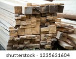 close up of piled stack of... | Shutterstock . vector #1235631604