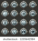 server web vector icons in the... | Shutterstock .eps vector #1235642584