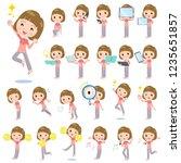 a set of women in sportswear... | Shutterstock .eps vector #1235651857