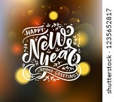 hand sketched happy new year... | Shutterstock .eps vector #1235652817