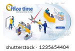 the concept of company time... | Shutterstock .eps vector #1235654404