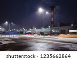industrial area on the... | Shutterstock . vector #1235662864