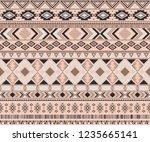 navajo american indian pattern... | Shutterstock .eps vector #1235665141